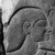 Relief of King Sobekhotep III, ca. 1744-1741 B.C.E. Quartzite, 60 1/2 x 39 x 2 1/2 in., 370 lb. (153.7 x 99.1 x 6.4 cm, 167.83kg). Brooklyn Museum, Charles Edwin Wilbour Fund, 77.194a-c. Creative Commons-BY (Photo: Brooklyn Museum, 77.194_negF_bw_IMLS.jpg)