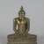 Seated Buddha, 18th century. Gilt bronze, 9 1/2 x 7 1/4 x 3 1/2 in. (24.1 x 18.4 x 8.9 cm). Brooklyn Museum, Gift of Dr. Bertram H. Schaffner, 84.267.1. Creative Commons-BY (Photo: Brooklyn Museum, 84.267.1_PS5.jpg)