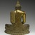 Seated Buddha, 18th century. Gilt bronze, 9 1/2 x 7 1/4 x 3 1/2 in. (24.1 x 18.4 x 8.9 cm). Brooklyn Museum, Gift of Dr. Bertram H. Schaffner, 84.267.1. Creative Commons-BY (Photo: Brooklyn Museum, 84.267.1_back_PS2.jpg)