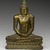 Seated Buddha, 18th century. Gilt bronze, 9 1/2 x 7 1/4 x 3 1/2 in. (24.1 x 18.4 x 8.9 cm). Brooklyn Museum, Gift of Dr. Bertram H. Schaffner, 84.267.1. Creative Commons-BY (Photo: Brooklyn Museum, 84.267.1_front_PS2.jpg)