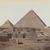 Antonio Beato (Italian and British, after 1832-1906). Pyramids at Giza (View from northeast of the pyramids of Chephren and Cheops), 19th century. Albumen silver photograph, image/sheet: 7 3/4 x 10 1/4 in. (19.7 x 26 cm). Brooklyn Museum, Gift of Matthew Dontzin, 85.305.2 (Photo: Brooklyn Museum, 85.305.2_PS4.jpg)