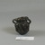 Roman. Two-handled Pot Imitating Stone, 4th-5th century C.E. Glass, 1 9/16 x 1 7/16 x 1 7/8 in. (3.9 x 3.6 x 4.7 cm). Brooklyn Museum, Gift of Aziz Khayat, 12.47. Creative Commons-BY (Photo: Brooklyn Museum, CUR.12.47_view2.jpg)