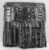 Yoruba. Egungun Dance Costume, mid 20th century. Wood, cotton and wool textiles, aluminum, est.: 55 x 6 x 63 in. (139.7 x 15.2 x 160 cm). Brooklyn Museum, Gift of Sam Hilu, 1998.125. Creative Commons-BY (Photo: Brooklyn Museum, CUR.1998.125_print_side1_bw.jpg)