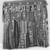 Yoruba. Egungun Dance Costume, mid 20th century. Wood, cotton and wool textiles, aluminum, est.: 55 x 6 x 63 in. (139.7 x 15.2 x 160 cm). Brooklyn Museum, Gift of Sam Hilu, 1998.125. Creative Commons-BY (Photo: Brooklyn Museum, CUR.1998.125_print_side2_bw.jpg)