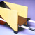 Gerrit Th. Rietveld (Dutch, 1888-1964). Child's Wheelbarrow, designed 1923; made 1958. Wood. pigment, metal, 13 x 26 x 10 1/2 in. (33 x 66 x 26.7 cm). Brooklyn Museum, Marie Bernice Bitzer Fund, 2001.87. Creative Commons-BY (Photo: Brooklyn Museum, CUR.2001.87_threequarter_back.jpg)