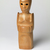 Sargent Claude Johnson (American, 1888-1967). Untitled (Standing Woman), ca. 1933-1935. Terra cotta, painted pale tan, 14 1/4 x 4 x 3 1/2 in. (36.2 x 10.2 x 8.9 cm). Brooklyn Museum, Gift of the Estate of Emil Fuchs and Mr. and Mrs. Sidney Steinhauer, by exchange, Robert B. Woodward Memorial Fund, and Mary Smith Dorward Fund, 2010.2 (Photo: Image courtesy of Swann Auction Galleries, CUR.2010.2_Swann_Auction_photograph.jpg)