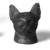Separate Head of a Cat Probably from a Small Sarcophagus. Bronze, 2 1/2 x 1 11/16 x 1 15/16 in. (6.3 x 4.3 x 4.9 cm). Brooklyn Museum, Charles Edwin Wilbour Fund, 37.428E. Creative Commons-BY (Photo: Brooklyn Museum, CUR.37.428E_neg_37.426E_grpC_bw.jpg)