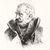 Adolf Friedrich Erdmann von Menzel (German, 1815-1905). Portrait of  Blücher, 1882. Wood engraving on China paper, Image: 6 7/8 x 5 11/16 in. (17.4 x 14.5 cm). Brooklyn Museum, By exchange, 38.173 (Photo: Brooklyn Museum, CUR.38.173.jpg)