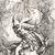Salvator Rosa (Italian, 1615-1673). Jason and the Dragon. Etching on laid paper, Image: 13 1/4 x 8 9/16 in. (33.7 x 21.7 cm). Brooklyn Museum, Museum Collection Fund, 39.11 (Photo: Brooklyn Museum, CUR.39.11_print.jpg)