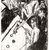Ernst Ludwig Kirchner (German, 1880-1938). Billiard Players (Billardspieler), 1915. Lithograph on wove paper, Image: 23 3/8 x 19 13/16 in. (59.4 x 50.3 cm). Brooklyn Museum, A. Augustus Healy Fund, 65.23.3 (Photo: Brooklyn Museum, CUR.65.23.3.jpg)
