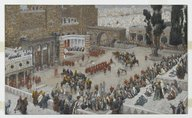 Brooklyn Museum: Bird's-Eye View of the Forum: Jesus Hears His Death Sentence (Le Forum