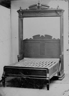 Brooklyn Museum: Higgins Parlor Cabinet/Bed, Bed Open