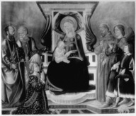 Brooklyn Museum: Virgin and Child with Saints Paul, Peter, Sigismund, Francis, Archangel Raphael and Tobias
