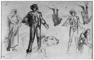 Brooklyn Museum: Studies for Harvesters Resting