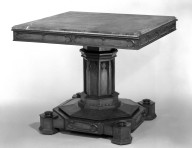 Brooklyn Museum: Rosewood Table with Black Marble Top
