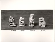 Brooklyn Museum: Small Monkey in Sitting Position with Upraised Arms