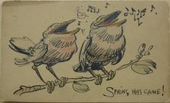 Brooklyn Museum: 1 of a Set of 6 Postcards: Spring Has Came