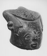 Brooklyn Museum: Human Head Paste Block (Bongotol)