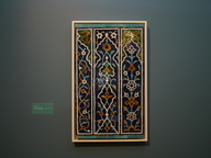Brooklyn Museum: Panel of 16 Tiles from the Shrine of Zayn al-Mulk