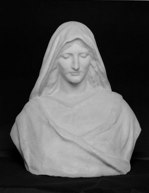 William Ordway Partridge (American, 1861-1930). A Madonna, ca. 1890. Marble, 25 x 24 x 16 in. (63.5 x 61 x 40.6 cm). Brooklyn Museum, Gift of George Foster Peabody, 00.158. Creative Commons-BY