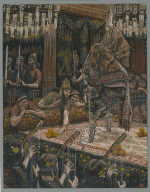 James Tissot (French, 1836-1902). The Daughter of Herodias Dancing (Hérodiade dansant), 1886-1896. Opaque watercolor over graphite on gray wove paper, Image: 9 5/16 x 7 5/16 in. (23.7 x 18.6 cm). Brooklyn Museum, Purchased by public subscription, 00.159.131