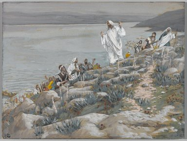 James Tissot (French, 1836-1902). You Follow Me for the Miracles (Vous me suivez pour des miracles), 1886-1894. Opaque watercolor over graphite on gray wove paper, Image: 5 7/16 x 7 1/4 in. (13.8 x 18.4 cm). Brooklyn Museum, Purchased by public subscription, 00.159.141