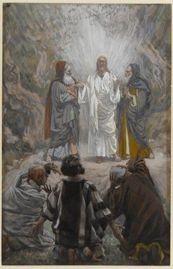 James Tissot (French, 1836-1902). The Transfiguration (La transfiguration), 1886-1896. Opaque watercolor over graphite on gray wove paper, Image: 9 1/2 x 6 1/16 in. (24.1 x 15.4 cm). Brooklyn Museum, Purchased by public subscription, 00.159.145