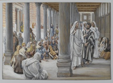Brooklyn Museum: Jesus Walks in the Portico of Solomon (Jésus se promène dans le portique de Salomon)