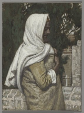 James Tissot (French, 1836-1902). Lazarus (Lazare), 1886-1894. Opaque watercolor over graphite on gray wove paper, Image: 5 1/4 x 3 7/8 in. (13.3 x 9.8 cm). Brooklyn Museum, Purchased by public subscription, 00.159.183