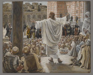 James Tissot (French, 1836-1902). Jerusalem Jerusalem (Jérusalem Jérusalem), 1886-1894. Opaque watercolor over graphite on gray wove paper, Image: 6 7/8 x 8 3/8 in. (17.5 x 21.3 cm). Brooklyn Museum, Purchased by public subscription, 00.159.210