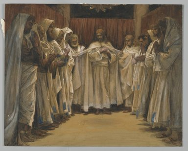 James Tissot (French, 1836-1902). The Last Sermon of Our Lord (Dernier Sermon de Notre-Seigneur), 1886-1894. Opaque watercolor over graphite on gray wove paper, Image: 9 1/4 x 11 9/16 in. (23.5 x 29.4 cm). Brooklyn Museum, Purchased by public subscription, 00.159.225