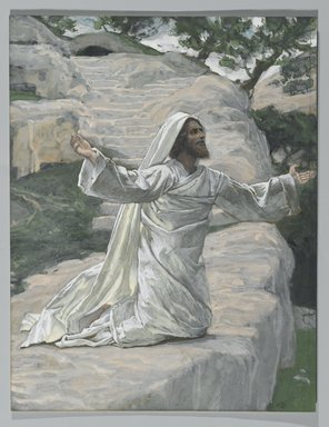 James Tissot (French, 1836-1902). Saint James the Less (Saint Jacques le Mineur), 1886-1894. Opaque watercolor over graphite on gray wove paper, Image: 12 1/16 x 9 1/4 in. (30.6 x 23.5 cm). Brooklyn Museum, Purchased by public subscription, 00.159.237