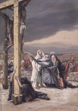 James Tissot (French, 1836-1902). The Sorrowful Mother (Mater Dolorosa), 1886-1894. Opaque watercolor over graphite on gray wove paper, Image: 12 7/8 x 9 1/16 in. (32.7 x 23 cm). Brooklyn Museum, Purchased by public subscription, 00.159.301