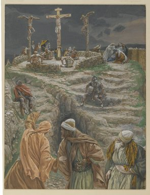 James Tissot (French, 1836-1902). My God, My God, why hast thou forsaken me? (Eli, Eli lama sabactani), 1886-1894. Opaque watercolor over graphite on gray wove paper, Image: 11 1/2 x 8 13/16 in. (29.2 x 22.4 cm). Brooklyn Museum, Purchased by public subscription, 00.159.302