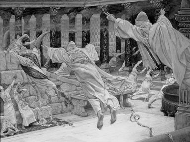 Brooklyn Museum: The Dead Appear in the Temple (Les morts apparaissent dans le Temple)