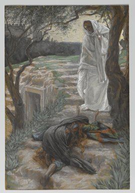 James Tissot (French, 1836-1902). Touch Me Not (Noli me tangere), 1886-1894. Opaque watercolor over graphite on gray wove paper, Image: 11 1/8 x 7 1/2 in. (28.3 x 19.1 cm). Brooklyn Museum, Purchased by public subscription, 00.159.335
