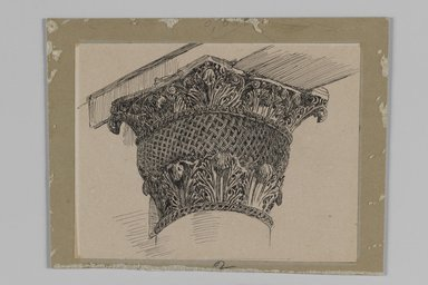 Brooklyn Museum: Capital from the Mosque of El-Aksa (Chapiteau de la mosquée d'El Aksa)