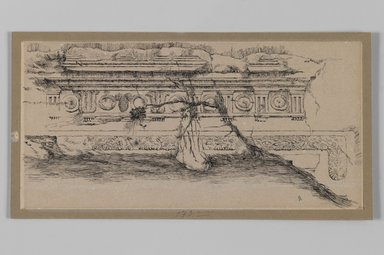 Brooklyn Museum: Frieze from the Tomb of Queen Helena of Adiabene near Jerusalem (Frise du tombeau de la reine Hélène d'Adiabène, près de Jérusalem)