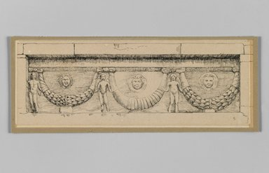 Brooklyn Museum: Antique frieze at Jefra, on the road from Nablous to Jerusalem (Frise antique à Jefra, route de Naplouse à Jérusalem)