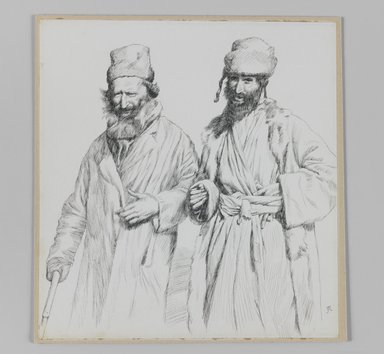 James Tissot (French, 1836-1902). Types of Judea, 1886-1887 or 1889. Pen and ink on paper mounted on board, Sheet: 8 11/16 x 8 3/16 in. (22.1 x 20.8 cm). Brooklyn Museum, Purchased by public subscription, 00.159.365