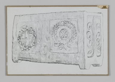 James Tissot (French, 1836-1902). Jewish Ossuary, 1886-1887 or 1889. Pen and ink on paper mounted on board, Sheet: 5 1/8 x 7 9/16 in. (13 x 19.2 cm). Brooklyn Museum, Purchased by public subscription, 00.159.366.3
