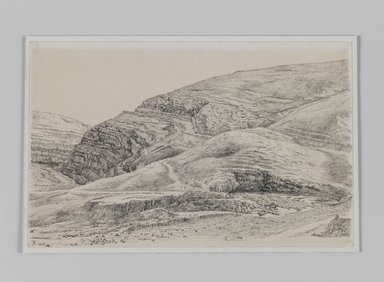 James Tissot (French, 1836-1902). Valley of the Kedron Near Mar-Saba, 1886-1887 or 1889. Pen and ink, Sheet: 6 x 9 3/8 in. (15.2 x 23.8 cm). Brooklyn Museum, Purchased by public subscription, 00.159.404