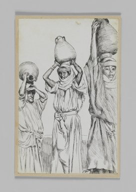 James Tissot (French, 1836-1902). Women of Galilee, 1886-1887 or 1889. Pen and ink, Sheet: 7 1/4 x 4 11/16 in. (18.4 x 11.9 cm). Brooklyn Museum, Purchased by public subscription, 00.159.407