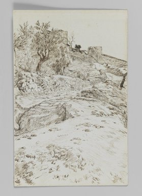 James Tissot (French, 1836-1902). Types of Jews, Jerusalem, 1886-1887 or 1889. Pen and ink on wove paper, Sheet: 7 1/8 x 4 5/8 in. (18.1 x 11.7 cm). Brooklyn Museum, Purchased by public subscription, 00.159.409