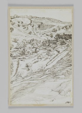 James Tissot (French, 1836-1902). Valley of Jehoshaphat, 1886-1887 or 1889. Ink on paper, Sheet: 7 3/16 x 4 5/8 in. (18.3 x 11.7 cm). Brooklyn Museum, Purchased by public subscription, 00.159.416