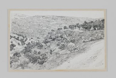 James Tissot (French, 1836-1902). Valley of Hinnom, Haceldama, 1886-1887 or 1889. Pen and ink, Sheet: 5 3/4 x 9 3/16 in. (14.6 x 23.3 cm). Brooklyn Museum, Purchased by public subscription, 00.159.420
