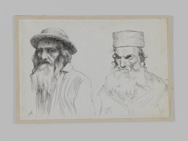 James Tissot (French, 1836-1902). Types of Jews, 1886-1887 or 1889. Pen and ink, Sheet: 4 3/4 x 7 in. (12.1 x 17.8 cm). Brooklyn Museum, Purchased by public subscription, 00.159.428