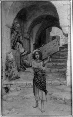 James Tissot (French, 1836-1902). The Youth of Jesus (Jeunesse de Jésus), 1886-1894. Opaque watercolor over graphite on gray wove paper, Image: 8 13/16 x 5 9/16 in. (22.4 x 14.1 cm). Brooklyn Museum, Purchased by public subscription, 00.159.42