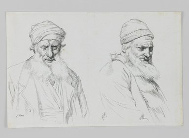James Tissot (French, 1836-1902). Types of Jews, 1886-1887 or 1889. Ink on paper, Sheet: 4 3/4 x 7 1/16 in. (12.1 x 17.9 cm). Brooklyn Museum, Purchased by public subscription, 00.159.432