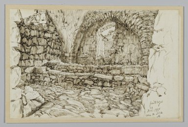 James Tissot (French, 1836-1902). Job's Well (Le Puits de Job. Bir-Ayoub), December 1886. Pen and ink on paper, Sheet: 4 11/16 x 7 1/4 in. (11.9 x 18.4 cm). Brooklyn Museum, Purchased by public subscription, 00.159.435